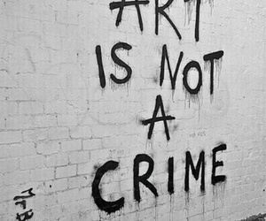art, crime, and wall image