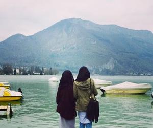friend, girls, and hijab image