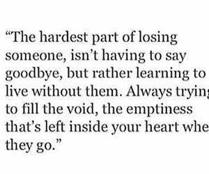 quote, sad, and goodbye image