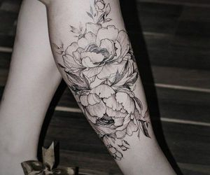flores, roses, and tatoo image