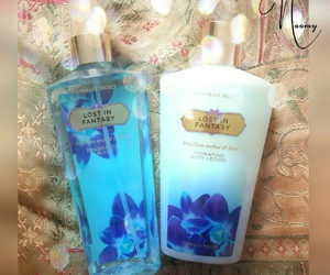 blue, girly, and body mist image