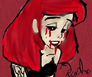 anime, blood, and red hair image