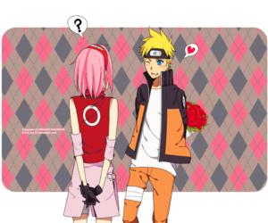 narusaku, naruto, and cute image