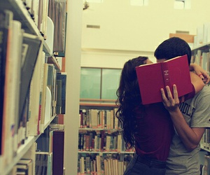 book, kiss, and love image