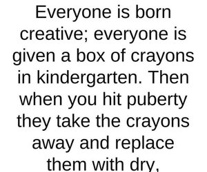 crayons, creative, and quote image