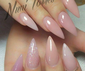 nails, pink, and stiletto image