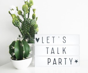 cactus, girl, and party image