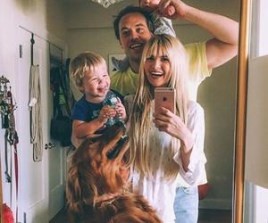 family, dog, and kids image