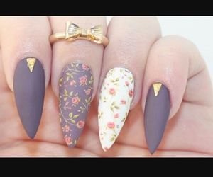 design, flowered, and nails image