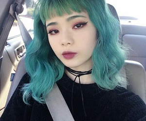 hair, girl, and asian image