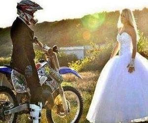 love, motocross, and wedding image