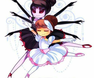 muffet, frisk, and undertale image