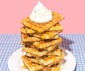waffles, food, and aesthetic image