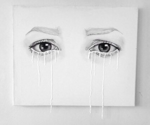 eyes, art, and white image
