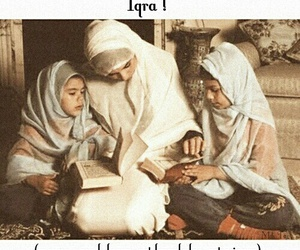 hijab, learn, and mother daughter image