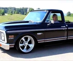 black, truck, and chevy image