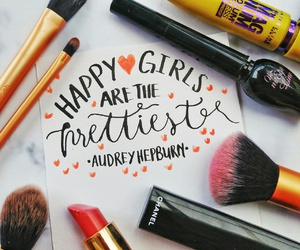 audrey hepburn, chanel, and handlettering image