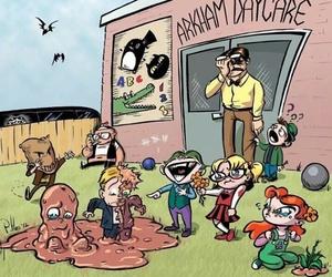 batman, arkham, and joker image
