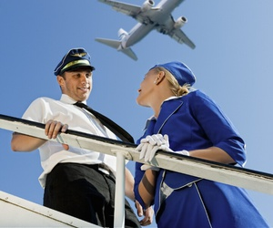 aviation and flight attendant image