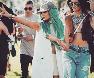 coachella, kendall jenner, and kylie jenner image