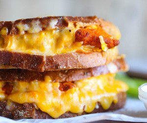 cheesy, food, and sandwich image