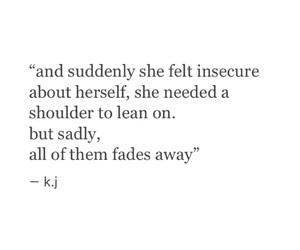 insecure, poem, and quote image