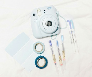 blue, instax, and pastel image