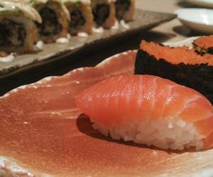 avocado, sushi roll, and crab image