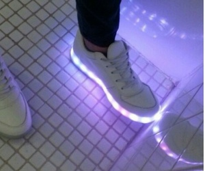 shoes, light, and purple image