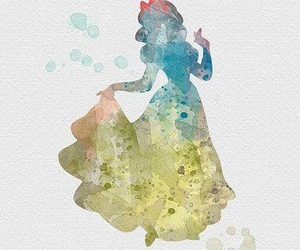 disney, watercolor, and watercolor art image