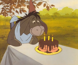 disney, birthday, and eeyore image