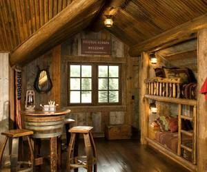 country living, interior design, and rustic image