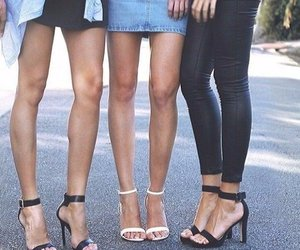 legs, style, and heels image