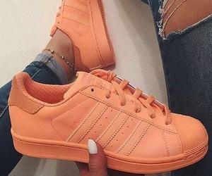 adidas, orange, and shoes image