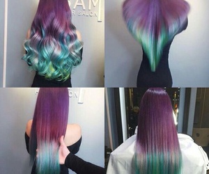 vogue hair colourful image