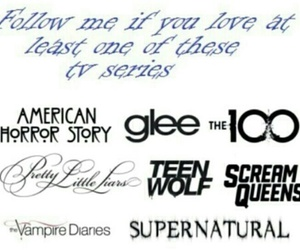 glee, supernatural, and follow image