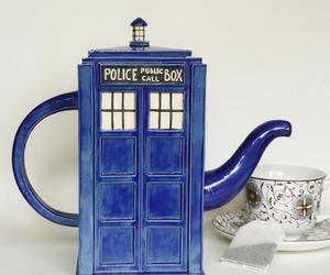 tardis, doctor who, and tea image