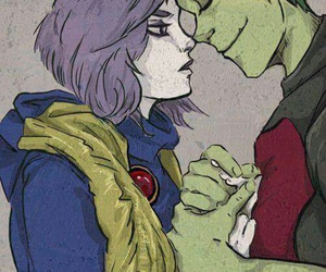 teen titans, beast boy, and raven image