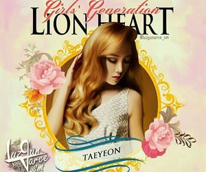 snsd, taeyeon, and lion heart image