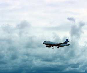 clouds, plane, and photography image