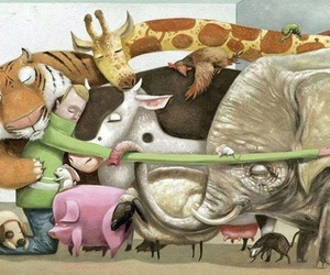 love, animals, and hug image