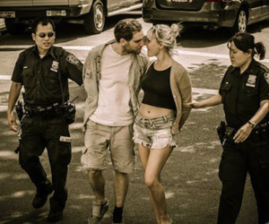 love, couple, and police image