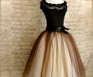 dress, vintage, and black image