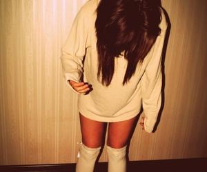 brunette, girl, and socks image