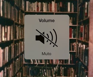 book, library, and silence image