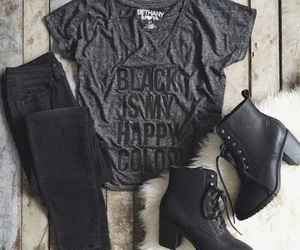 black, clothes, and boots image
