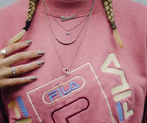 gold necklaces, layered necklaces, and silver rings image