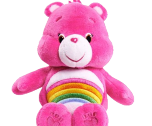 care bears, pink, and rainbow image