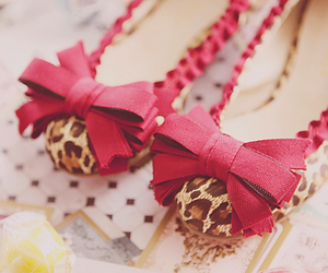 shoes, pink, and leopard image