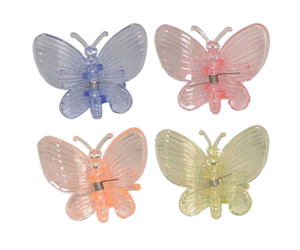 butterflies, color, and hair clip image